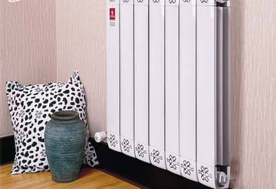 铜铝复合暖气片安装效果图